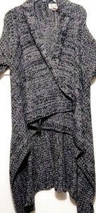Black & Grey Sweater Cardigan